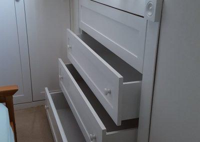 Under eaves drawers